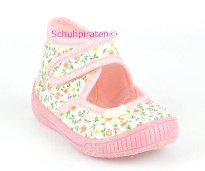 on sale 195f4 cc8a6 Hausschuhe weiß/rosa Blümchenmuster , Gr. 20-21