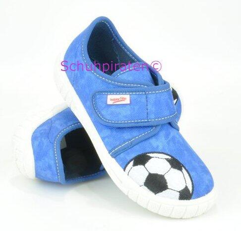Superfit Hausschuhe in blau Fußball, Gr. 31 32 + 34 35 + 38
