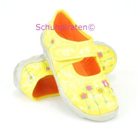 buy popular d1b59 455f7 Superfit Hausschuhe gelb mit bunten Blumen, Gr. 31+32+33