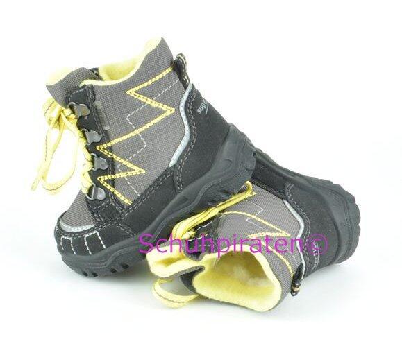best sneakers 8e117 ec3b4 Superfit Goretex Winterstiefel grau/gelb, Gr. 20-21 + 23-25